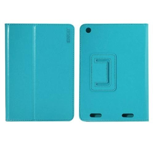 For Acer Iconia A1-830 Blue ENKAY Crazy Horse Leather Case with Holder