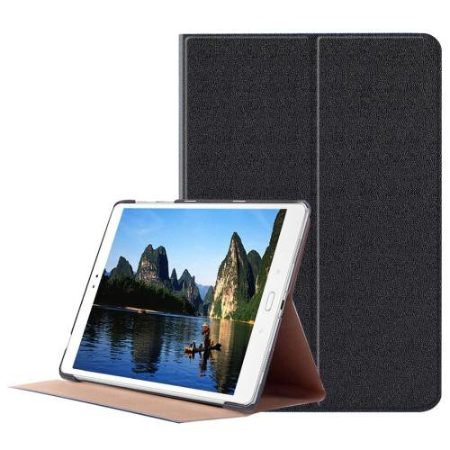 For ASUS Zenpad Black Smart Cover Stone Leather Case with 3 fold Holder