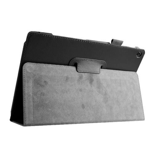 For ASUS Zenpad 10 Black Litchi Texture Flip Leather Case with Holder