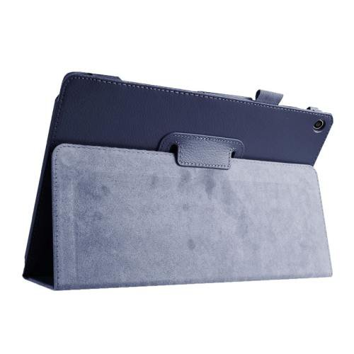 For ASUS Zenpad 10 Dark Blue Litchi Texture Flip Leather Case with Holder