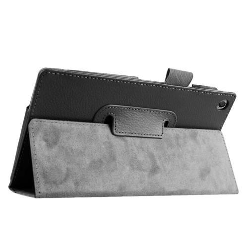 For ASUS Zenpad 7.0 Black Litchi Texture Flip Leather Case with Holder