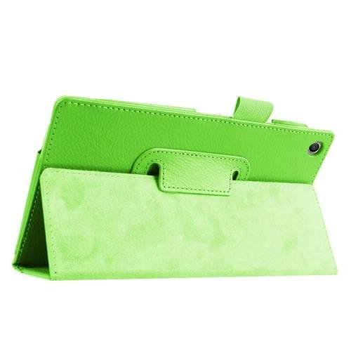 For ASUS Zenpad 7.0 Green Litchi Texture Flip Leather Case with Holder