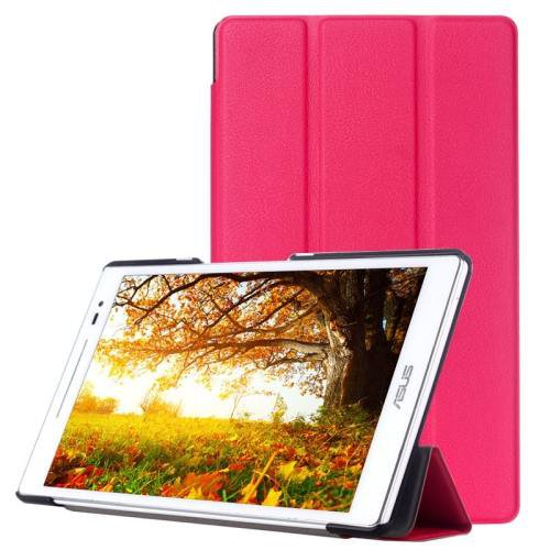 For ASUS Zenpad 8.0 Magenta Custer Flip Leather Case with 3 Fold Holder