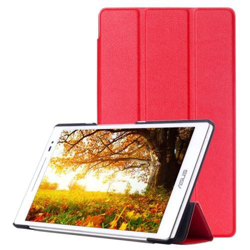 For ASUS Zenpad 8.0 Red Custer Flip Leather Case with 3 Fold Holder