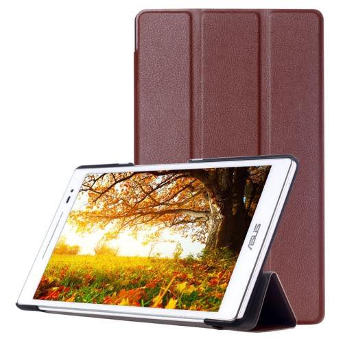 For ASUS Zenpad 8.0 Brown Custer Flip Leather Case with 3 Fold Holder