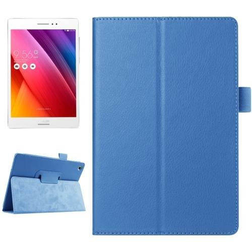 For ASUS Zenpad S 8.0 Blue Litchi Smart Cover Leather Case with Holder
