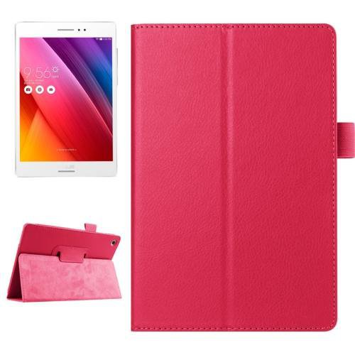For ASUS Zenpad S 8.0 Magenta Litchi Smart Cover Leather Case with Holder