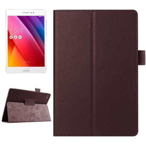 For ASUS Zenpad S 8.0 Brown Litchi Smart Cover Leather Case with Holder