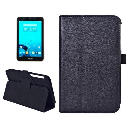 For ASUS MeMo Pad 7 Black Litchi Texture Flip Leather Case with Holder