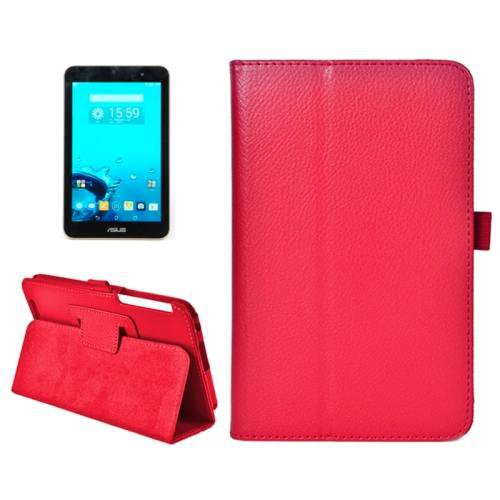 For ASUS MeMo Pad 7 Red Litchi Texture Flip Leather Case with Holder