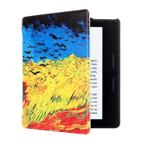 For Amazon Kindle Oasis Cornfield Pattern Horizontal Flip Leather Case