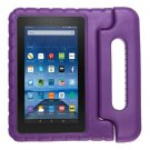 For Amazon MoKo Fire 7 Purple EVA Bumper Case with Handle & Holder