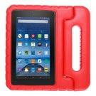 For Amazon MoKo Fire 7 Red EVA Bumper Case with Handle & Holder