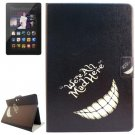 For Amazon Kindle Fire Grin Patterns Leather Case with Holder & Card Slots