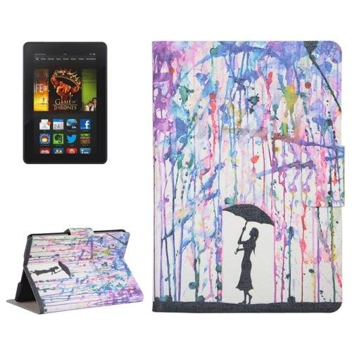 For Amazon Kindle Paperwhite 2 Rain Leather Case with Holder & Card Slots