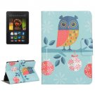 For Amazon Kindle Paperwhite 2 Owl Leather Case with Holder & Card Slots