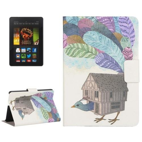 For Amazon Kindle Fire HDX 7 House Leather Case with Holder & Card Slots