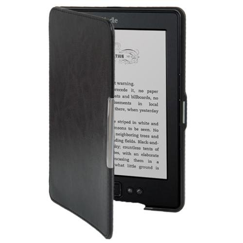 For Amazon Kindle 5 Black Crazy Horse Texture Leather Case
