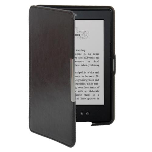 For Amazon Kindle 5 Coffee Crazy Horse Texture Leather Case