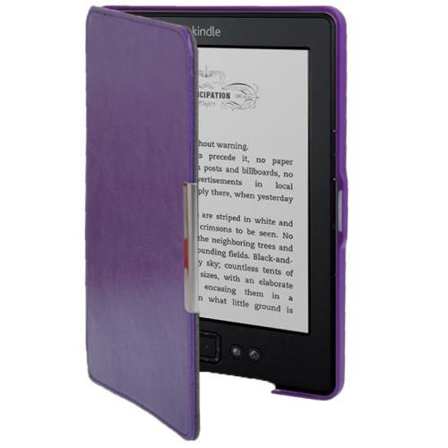 For Amazon Kindle 5 Purple Crazy Horse Texture Leather Case