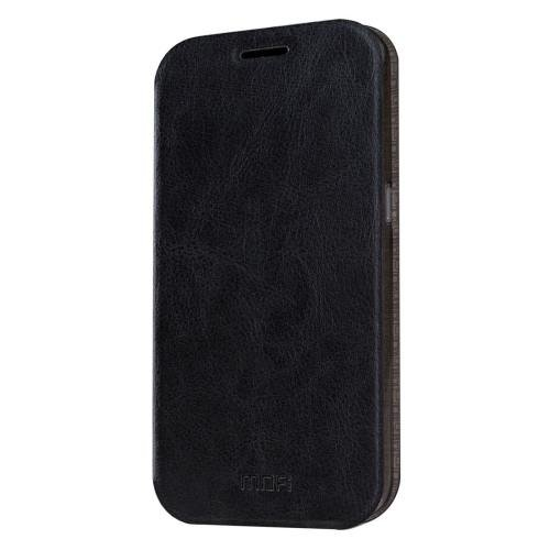 For Samsung Galaxy S7 Black Mofi Crazy Horse Leather Case with Holder