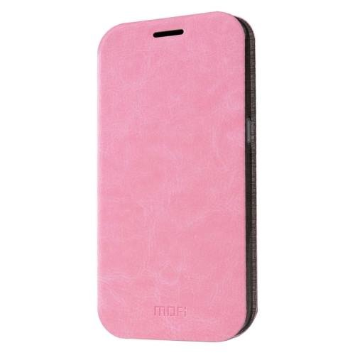 For Samsung Galaxy S7 Pink Mofi Crazy Horse Leather Case with Holder