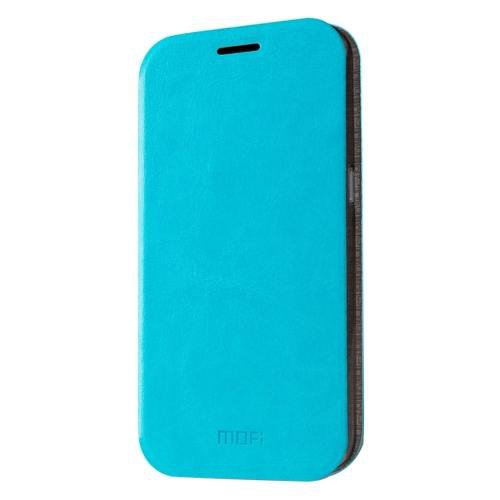 For Samsung Galaxy S7 Blue Mofi Crazy Horse Leather Case with Holder