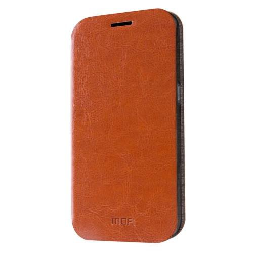 For Samsung Galaxy S7 Brown Mofi Crazy Horse Leather Case with Holder