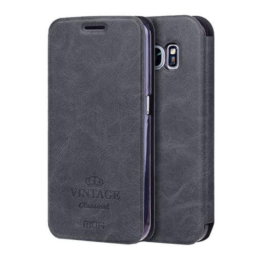For Samsung Galaxy S7 Black Mofi Crazy Horse Leather Case with Card Slots