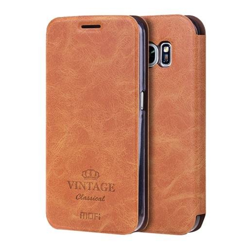 For Samsung Galaxy S7 Brown Mofi Crazy Horse Leather Case with Card Slots