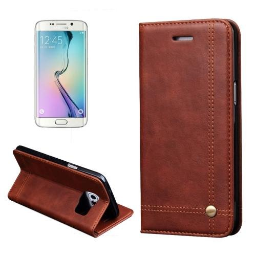 For Samsung Galaxy S7 Brown Crazy Horse Leather Case with absorption