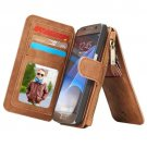 For Samsung Galaxy S7 Brown CaseMe Detachable Leather Billfold Case