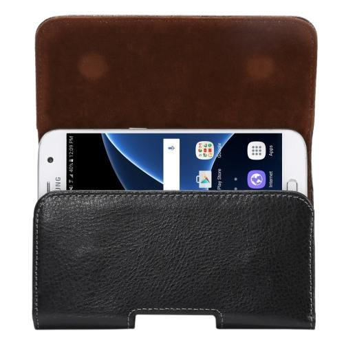 For Samsung Galaxy S7 Thwartwise Genuine Leather Case with Rotatable Back Splint