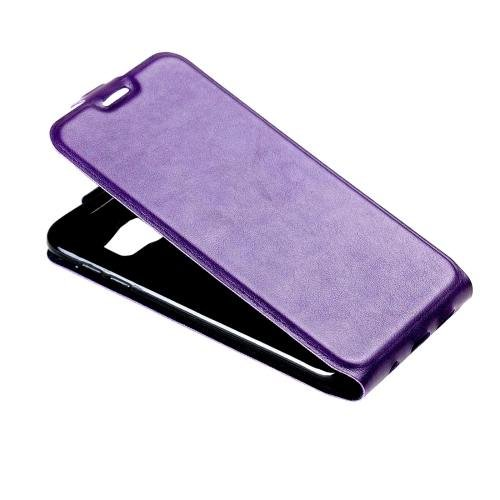 For Galaxy S7 Purple Flip Leather Case with Card Slot & Photo Frame