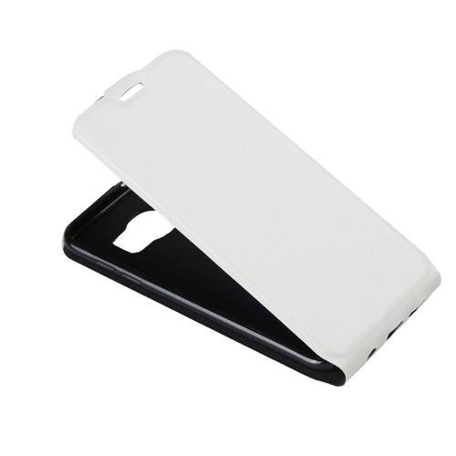 For Galaxy S7 White Flip Leather Case with Card Slot & Photo Frame