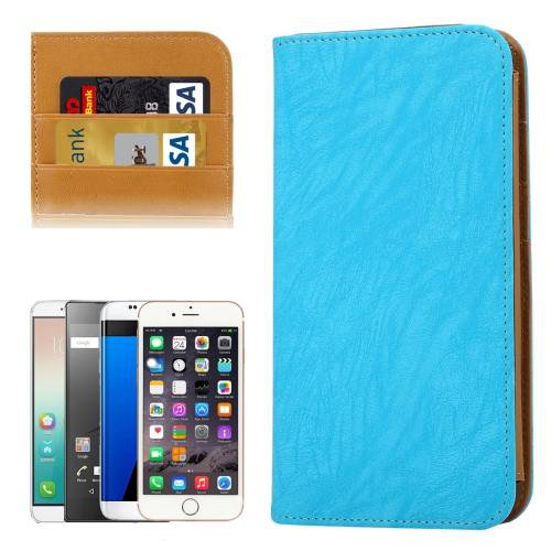 For Galaxy S7 Blue Wallet Style Flip Leather Case with Photo Frame