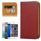 For Galaxy S7 Brown Wallet Style Flip Leather Case with Photo Frame