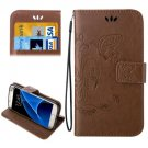 For Galaxy S7 Brown Crazy Horse Printing Leather Case with Wallet