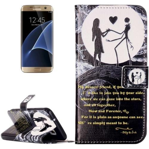 For Galaxy S7 Rilievo Lovers Leather Case with Magnetic Buckle & Card Slot