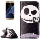 For Galaxy S7 Rilievo Skull Leather Case with Magnetic Buckle & Card Slot
