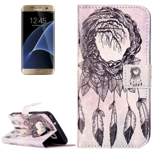 For Galaxy S7 Rilievo Windbell Leather Case with Magnetic Buckle & Card Slot