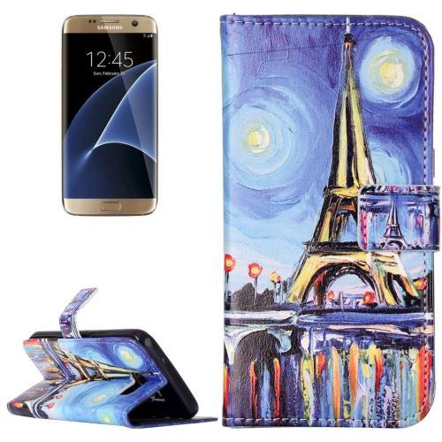 For Galaxy S7 Rilievo Canvas Leather Case with Magnetic Buckle & Card Slot