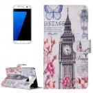 For Galaxy S7 Tower Pattern Leather Case with Holder & Card Slots & Wallet