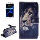 For Galaxy S7 Lion Pattern Leather Case with Holder, Card Slots & Wallet