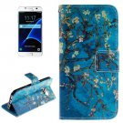 For Galaxy S7 Blossom Pattern Leather Case with Holder, Card Slots & Wallet