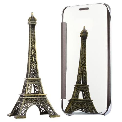 For Galaxy S7 Silver Electroplating Mirror Horizontal Flip Leather Case