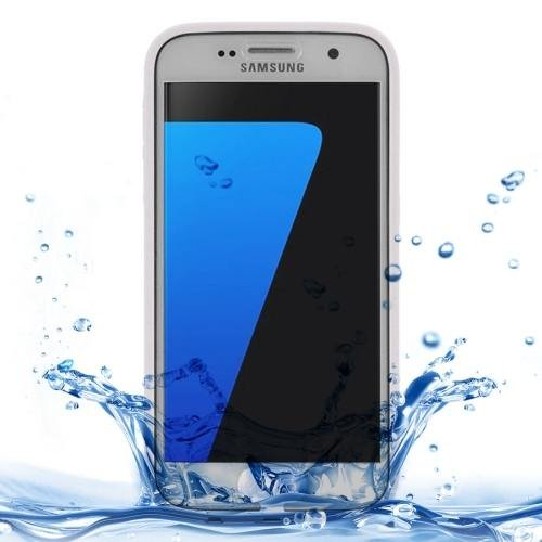 For Samsung Galaxy S7 3ATM Life Waterproof White TPU Protective Case