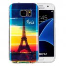 For Galaxy S7 IMD Eiffel Pattern Blu-ray Soft TPU Protective Case