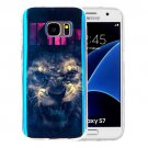 For Galaxy S7 IMD Lion Pattern Blu-ray Soft TPU Protective Case