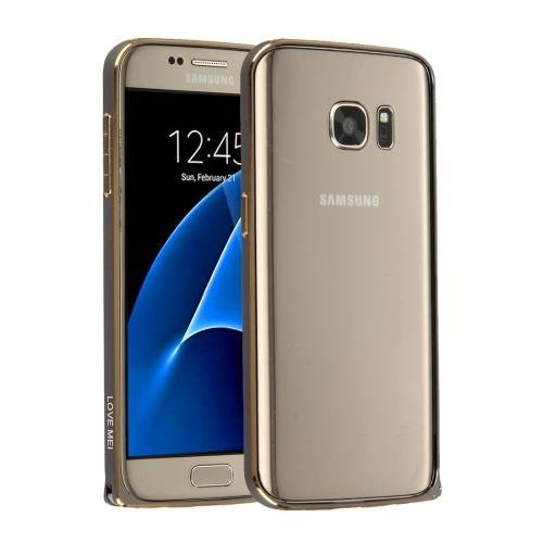 For Galaxy S7 Grey Hippocampal LOVE MEI Buckle Metal Aluminum Bumper Frame